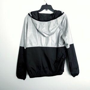 Forever 21 Jackets & Coats - Black and grey windbreaker zip up jacket
